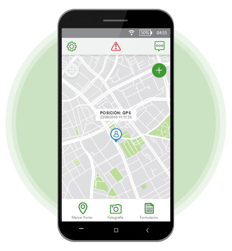 app de localización gps Evidence